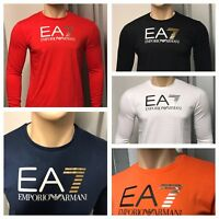 Emporio Armani EA7 Long Sleeve T-Shirt, 9 Colors, Size S, M, L,XL, XXL