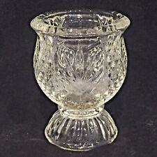 Vintage Pressed Glass Egg Cup Bud Vase