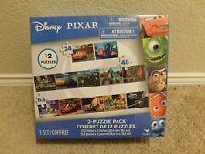 New Cardinal Disney Pixar 12 Puzzle Pack