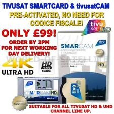 TivuSat Official tivusatCam HD / UHD and Pre-Activated SmartCard
