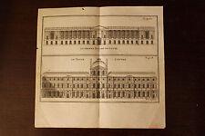 ✒ 18e Gravure PARIS façades du Louvre - le vieux Louvre