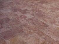 Terrassenplatten Gehwegplatten Natursteinplatten Travertin Red Wohnrausch 1Stück