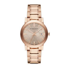 Burberry The City Rose Gold Dial Rose Gold Tone Strap Unisex Watch BU9034