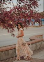 H&M SS2019 CONSCIOUS CHIFFON SMOCKING FLORAL DRESS BLOGGERS SOLD OUT