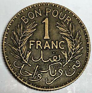 # C3410     TUNISIA    COIN,     ONE FRANC   1941