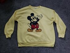 Vintage Disney Mickey Mouse Yellow Crewneck Sweatshirt Fits like a small womans