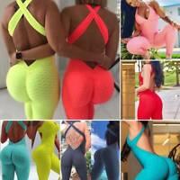 Push Up Yoga Gym Pants Women Fitness High Waist Bodysuit Butt Lift Sport Legging