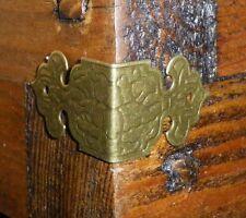 NEW Set of 12 Vintage antique bronze colour metal box corners braces straps C028