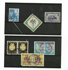 6X 1938-1984 COSTA RICA STAMPS ON STOCKARD