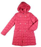 Tommy Hilfiger Women's Red Full Zip Snap Puffer Coat w/Detachable Hood M Medium