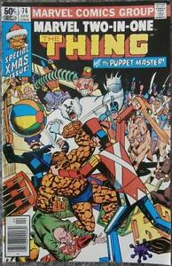 MARVEL TWO-IN-ONE featuring THE THING  #74  {MARVEL}  1981  THE PUPPET MASTER