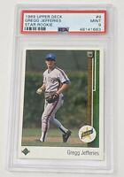 1989 Upper Deck Star Rookie #9 Gregg Jefferies Mets RC PSA 9 MINT