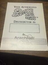 Arachnid Inc ENGLISH MARK DARTS flyer- good used original