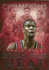 2013-14 TIMELESS TREASURES TEAMS #40 CHRIS BOSH LeBRON JAMES HEAT FREE SHIPPING