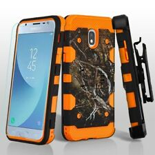 For Samsung GALAXY J3 2018 Impact Hybrid Armor Rugged Case Cover Holster Screen