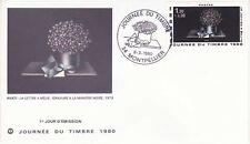Enveloppe 1er jour FDC 1980 - Journée du timbre Avati La lettre à Méli