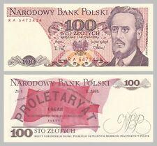 Polen / Poland 100 Zlotych 1988 p143e unz.
