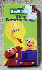 SESAME STREET KIDS' FAVORITE SONGS Vhs Video Tape 1999 Jim Henson Muppets Sony