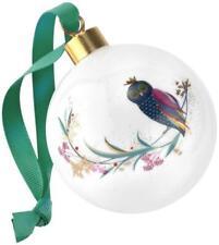 Portmeirion Sara Miller Christmas bauble ceramic Xmas festive owl