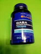 GABA 750 mg (ácido gama aminobutírico) 90 capsulas PURITAN´S PRIDE