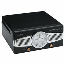 Groov e GVTT02/BK Classic Vinyl Record Player with FM Radio & Built in Speakers