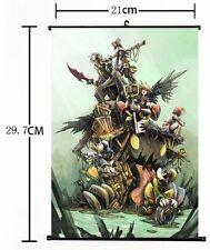 "Hot Japan Anime Kingdom Hearts Ventus Home Decor Poster Wall Scroll 8""x12"" B"
