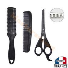 Ciseaux + Peigne à désépaissir effileur effiler pour cheveux de coiffeur 170mm