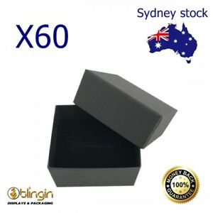 X60 A-Grade Cardboard Jewellery Ring gift Boxes - Jewelry Displays 5.5x4.8x3cm