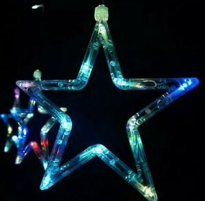 Twinkling star led fairy  lights string indoor/outdoor christmas/party uk plug