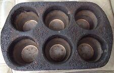 Cup Cake Muffin Commercial Pan Sheet Jumbo king size metal 6 DEEP CUPCAKE SIX