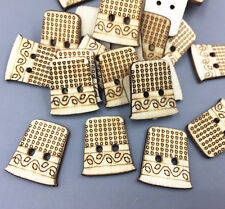 50pcs Retro Wooden Buttons Sewing machine wound bobbin Sewing scrapbooking 22mm