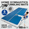 "20 FT 8""Thick Air Track Tumbling Inflatable Mat Gymnastic Yoga Training Fitness"