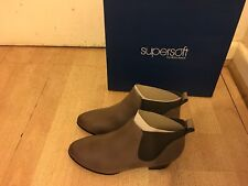 NEW Supersoft By Diana Ferari Chelsea Leather Ankle Boots -Size 7.5 -RRP$169.95