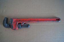 "Ridge Tool 18"" heavy duty pipe wrench Ridged plumbing tool GUC"