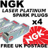 4x NGK Platinum SPARK PLUGS VAUXHALL ASTRA H 2.0 lt TURBO VXR 240bhp 05--> #6314