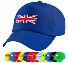 Niños Deportes Nacional País Banderas gorras de béisbol Gorras De Fútbol Racing Niños Niñas