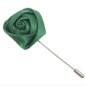 3pcs silk Rose Flowers Corsage Grooms Best men Boutonniere pin Wedding Flow DIY