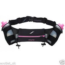 Fitletic Energy Belt Hydration Waist Pack with 2 6oz Bottles Sports/Running PINK