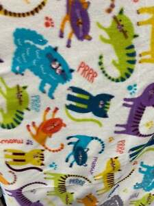 """Perr cats Polar Fleece Sold By The Yard 60"""" warm cozy soft"""