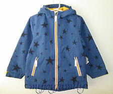 HANNA ANDERSSON Fleece Lined Parka Jacket Storm Cloud Blue Stars 150 12 NWT