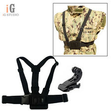 Adjustable Chest Mount Harness Chest Strap B + J-hook Buckle Mount for GoPro 3 2