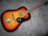 POST MALONE Autograph SIGNED Full Size Acoustic Guitar BAS COA Rockstar Stoney