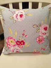 "💗Clarke and Clarke Shabby Chic English Rose Blue Grey Floral 16"" Cushion Cover"