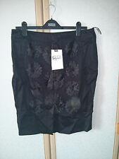 M&S Per Una Speziale Black Cotton Rich Appliqué Skirt Size 14 BNWT RRP £49.50
