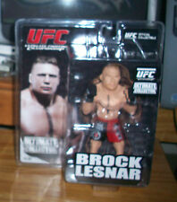 UFC BROCK LESNAR ACTION FIGURE ULTIMATE COLLECTOR ROUND 5 ZUFFA WWF WWE MMA