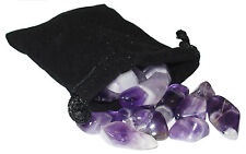 SHARING STONES - 2oz (45+) CHEVRON (BANDED) AMETHYST  XS Tumbled Crystals w/Bag
