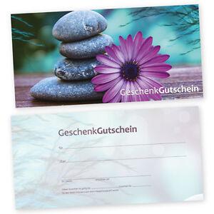50 Geschenk – Gutscheinkarten GELASSENHEIT Gutscheine Geschenkgutscheine