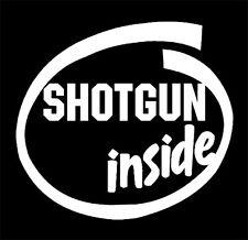 """Shotgun Inside"" decal sticker, Shotgun,Riot Shotgun,12 gauge, 410 gauge"