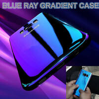 Blu Ray Gradient Colour Mirror Hard Back Case Cover For Samsung Galaxy S7 S8+