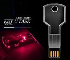 LED USB Stick Kristall Key, Stick in Schlüsselform, USB 2.0, 1GB - 128GB crystal